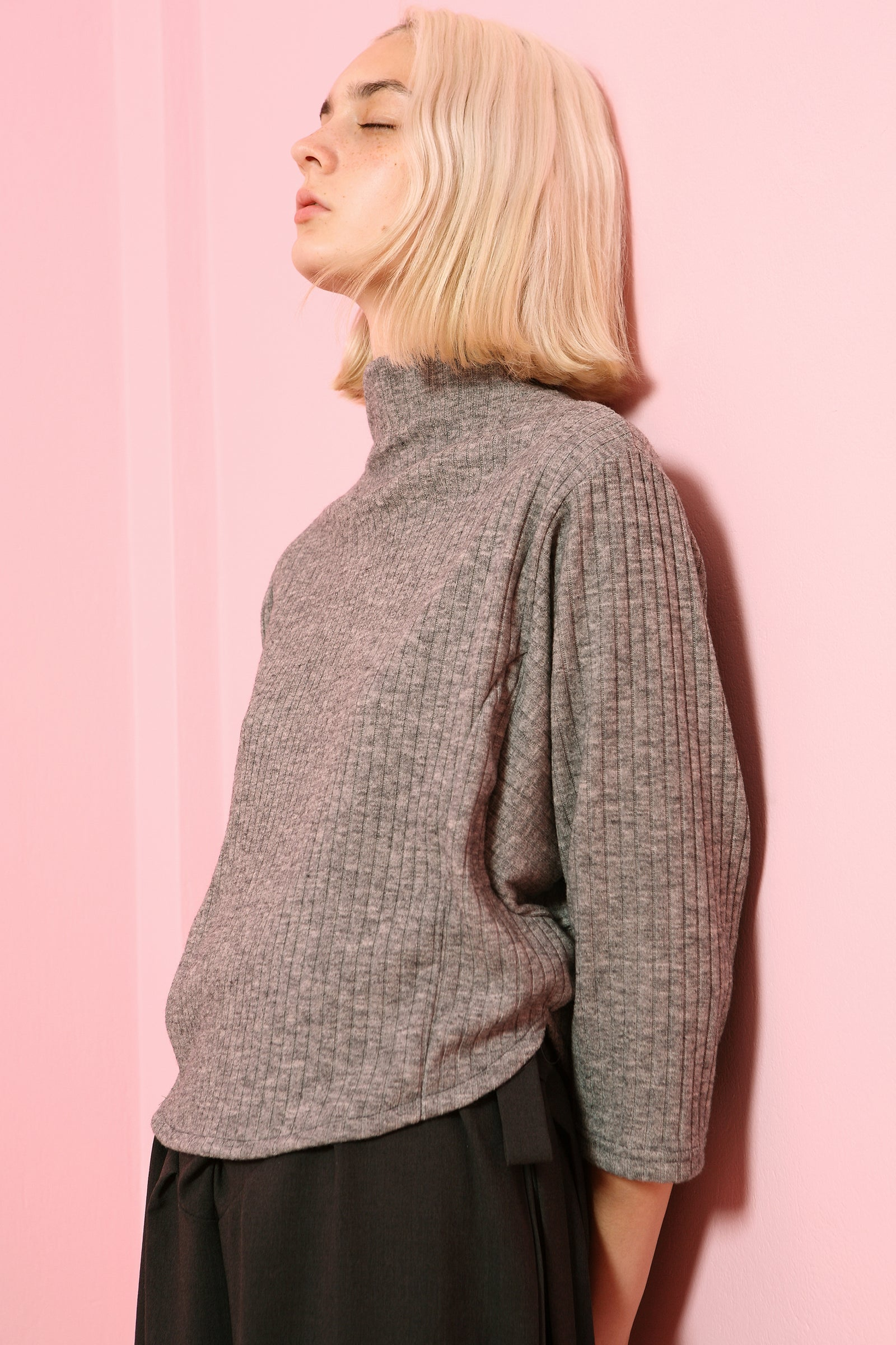 Top Chouchou Turtleneck in Knit Colors