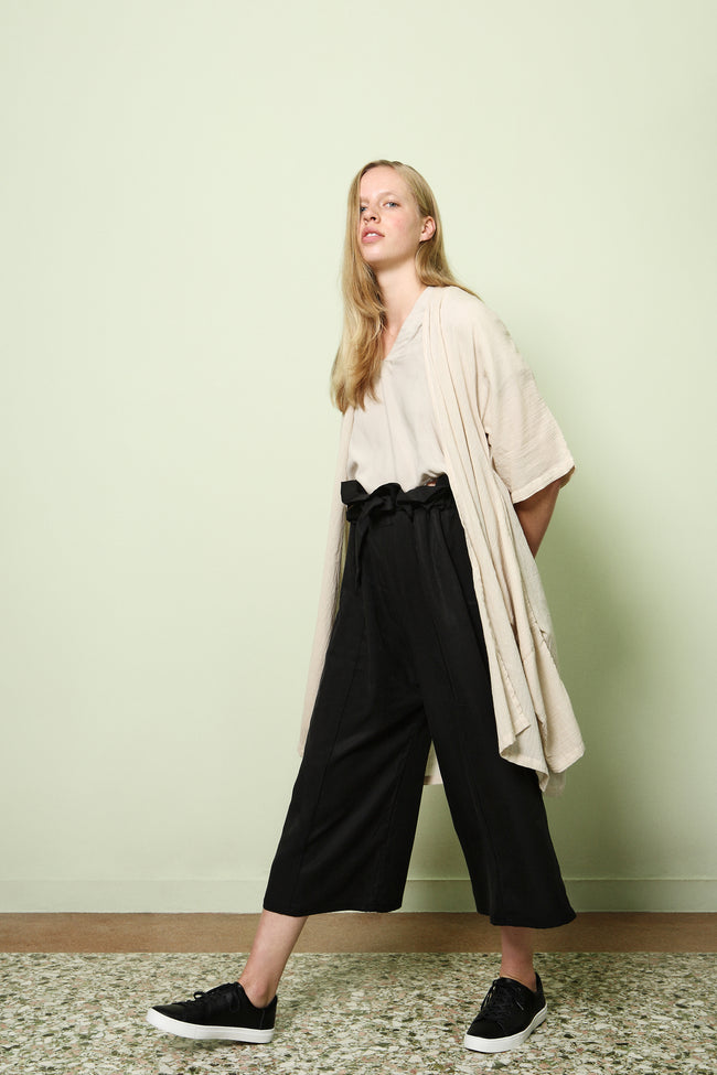 Wide Leg Trousers Hiraku in Tencel Gabardine Colors