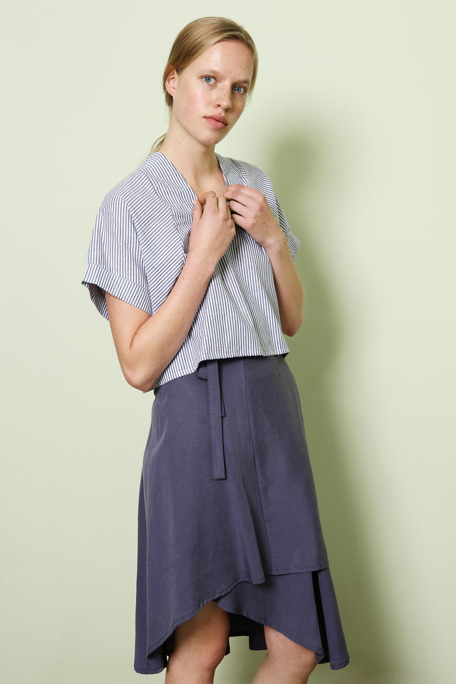 Skirt Milo in Tencel Gabardine Colors