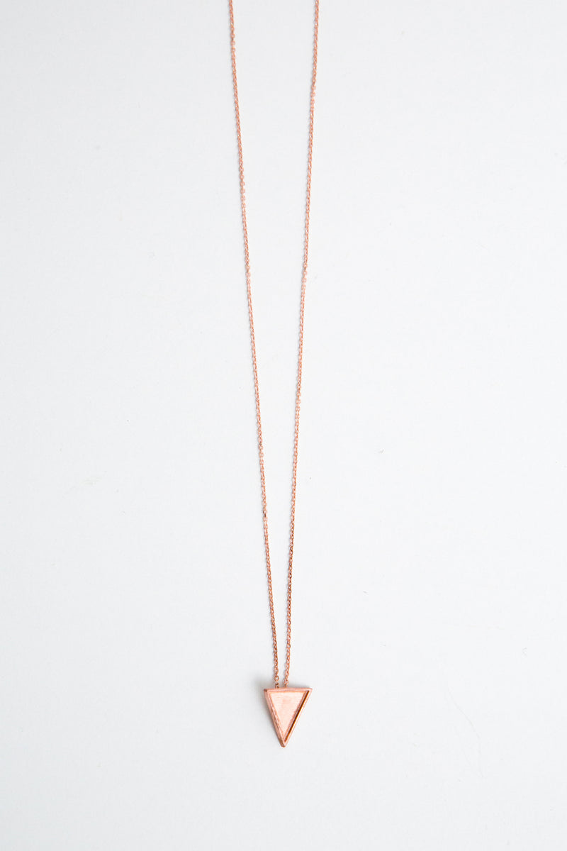 Pendant Triangle Flag Pink Gold Dipped