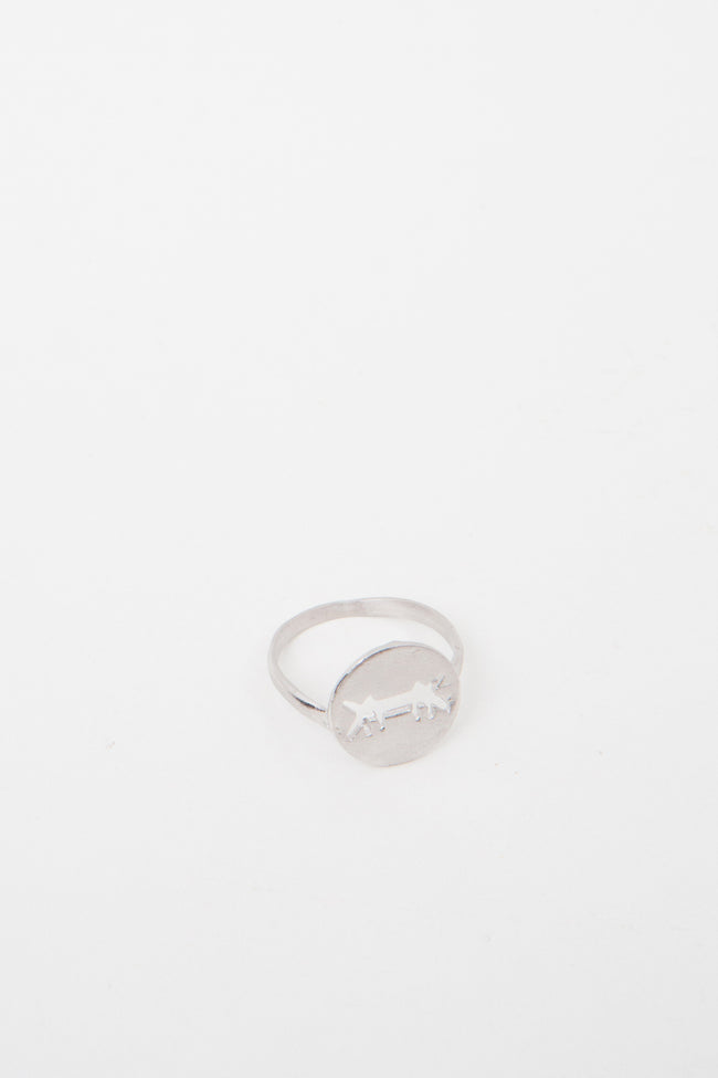 Ring Perforated Logo Silver