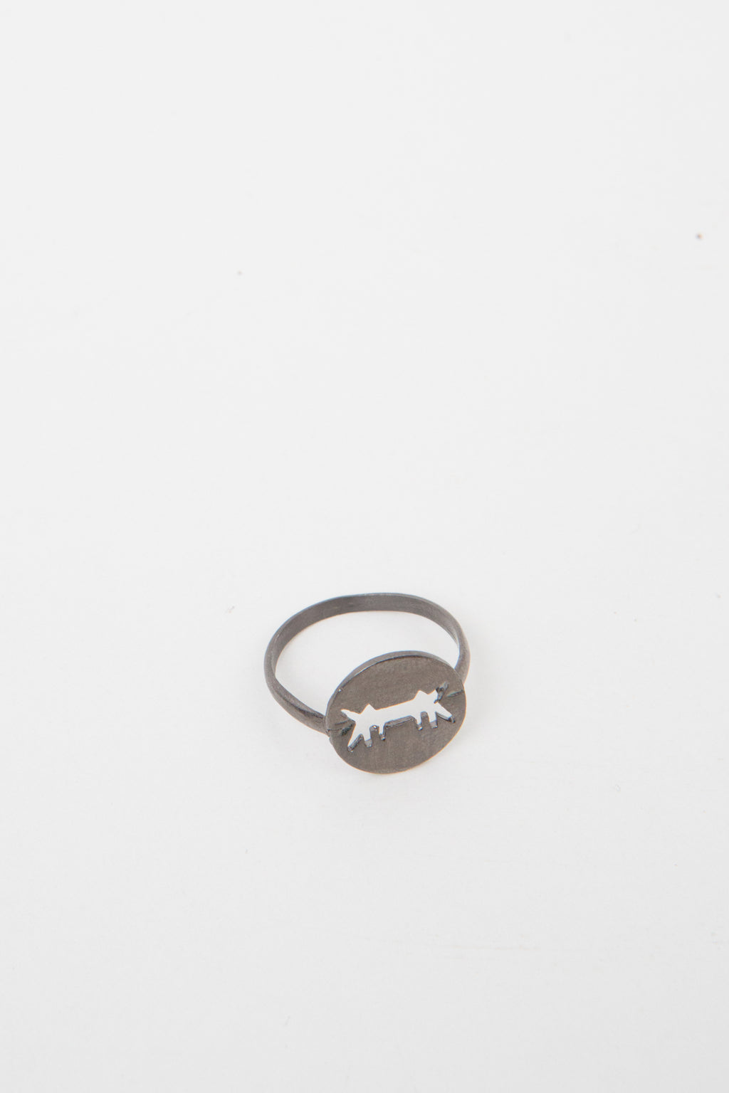 Ring Perforated Logo Black Silver