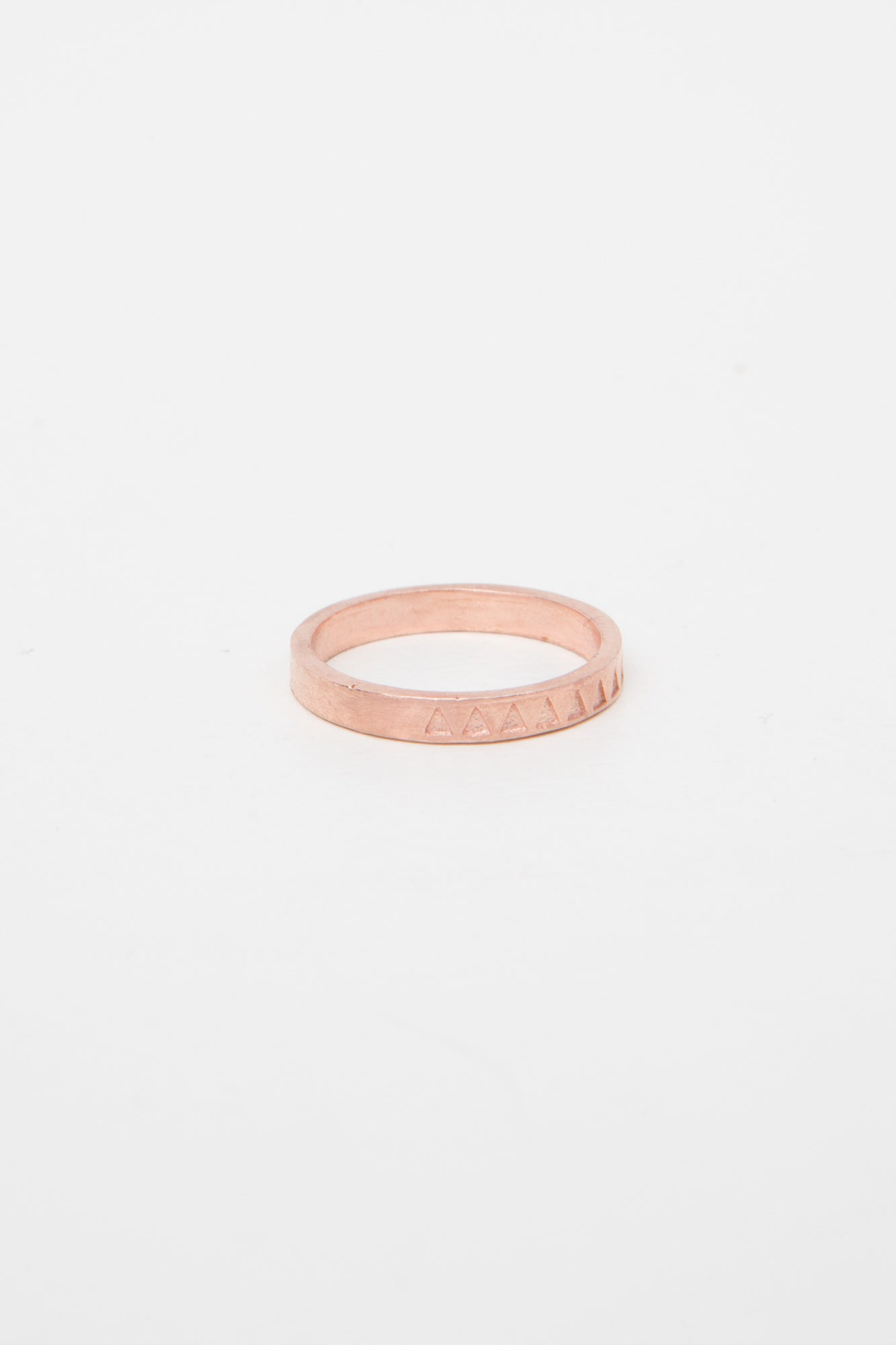 Ring Triangle Flag Pink Gold Dipped