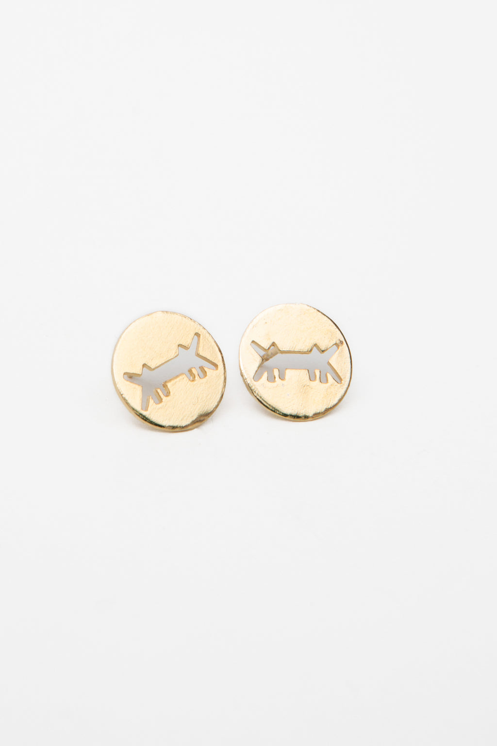 EARRINGS AM LOGO * PERFORATED