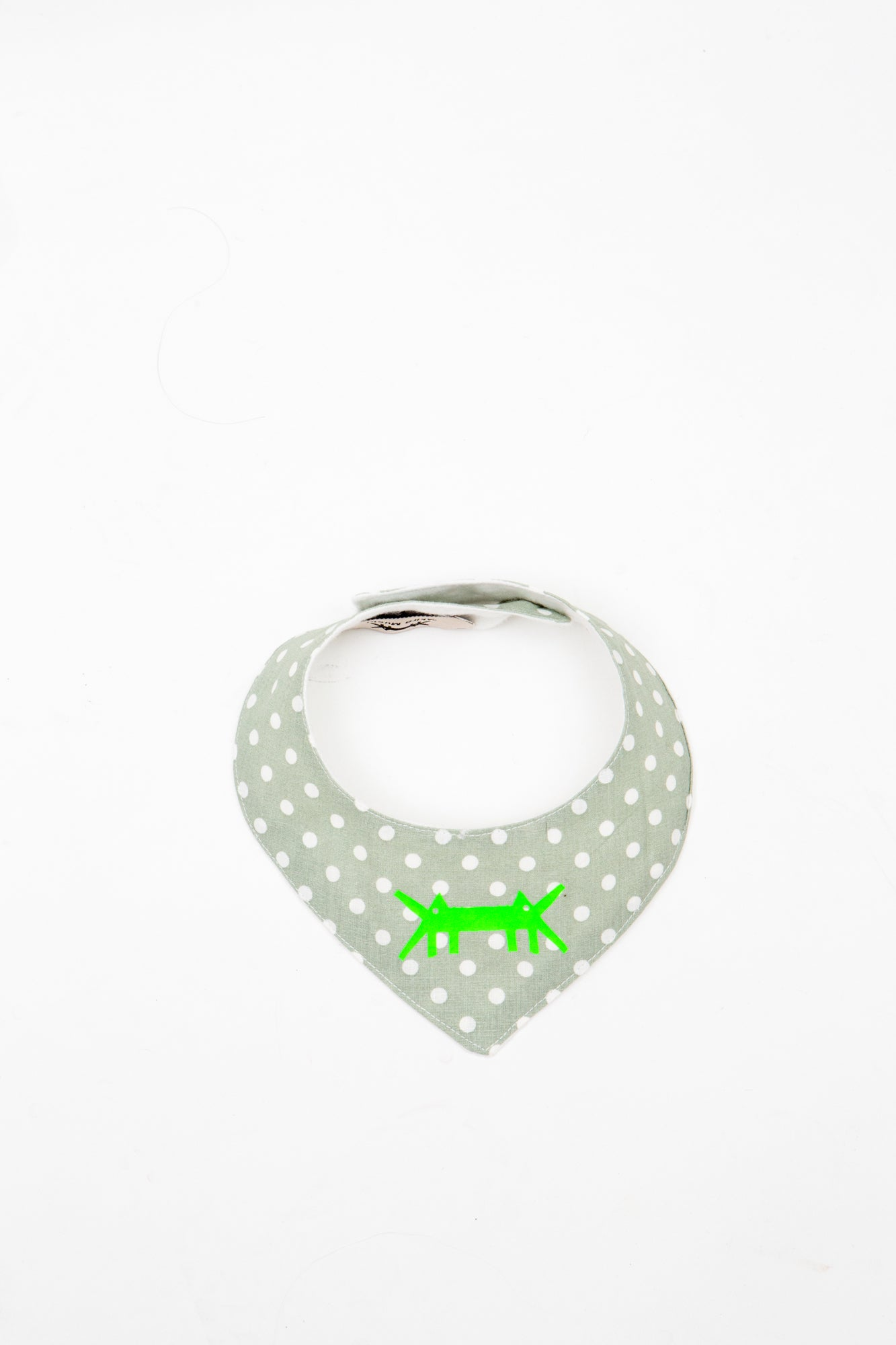 Baby Scarf Bib in Mint Polka Dots