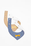 Baby Scarf Bib in Navy Blue Stripes