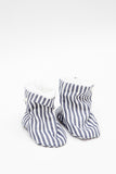 Baby Shoes in Grey Stripe