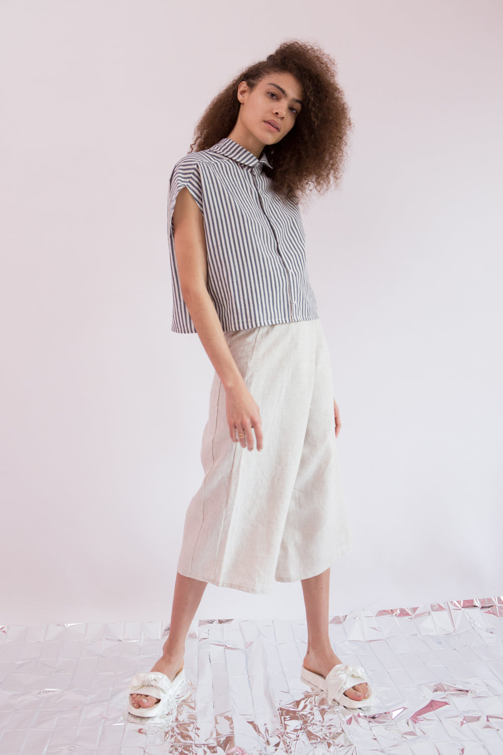 Shirt Isaki in Stripe Cotton Poplin