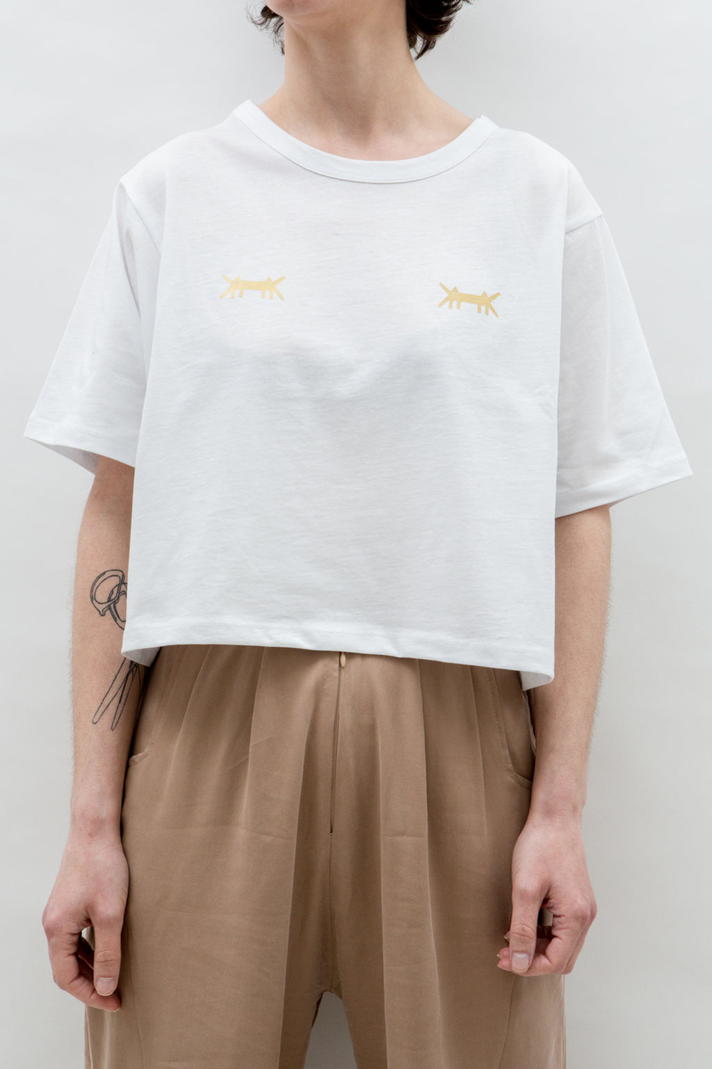 AM Cropped T-Shirt Double Logo