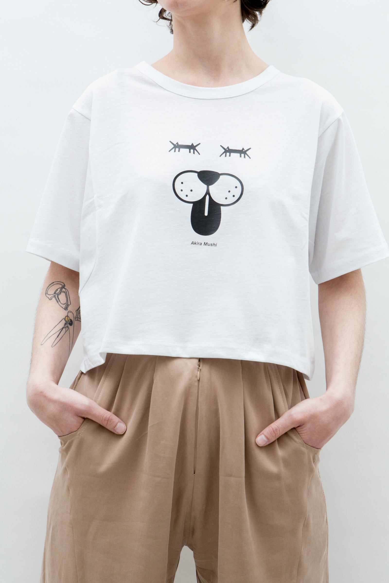 AM Cropped T-Shirt Doggy Face