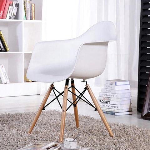 Woody Arm Silla de Abs Y Madera - Blanco