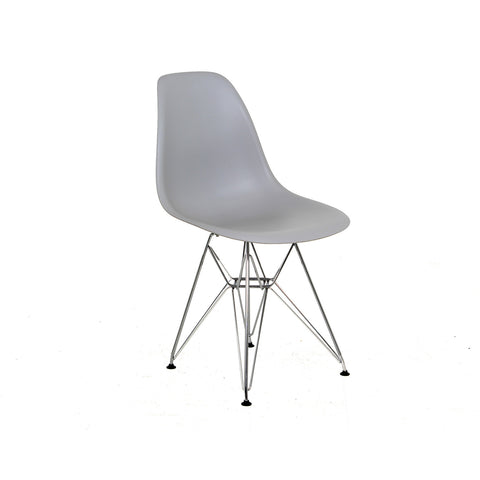 Metal Side Silla de Abs Cromo - Gris