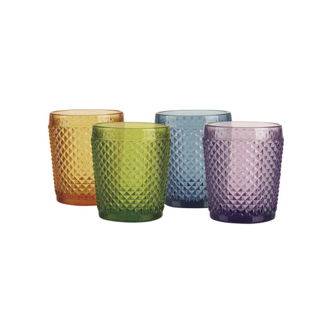 Atlan Set de 4 Vasos de Vidrio - Multicolor