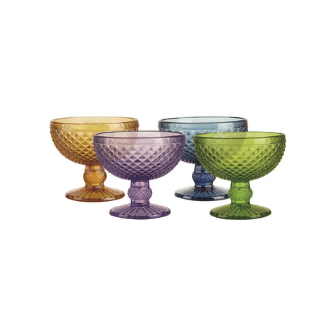 Atlan Set de 4 Goblets de Vidrio - Multicolor