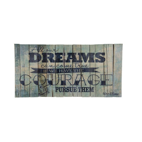 Blue Dreams Cuadro Rectangular de Cimbra - 100 x 50 cm
