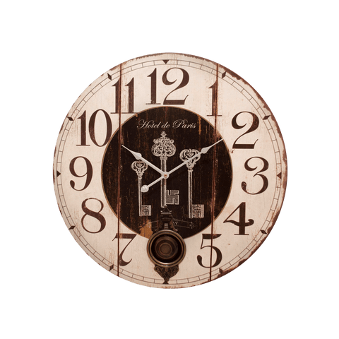 Claudin Reloj Vintage de Pared de MDF - Multicolor