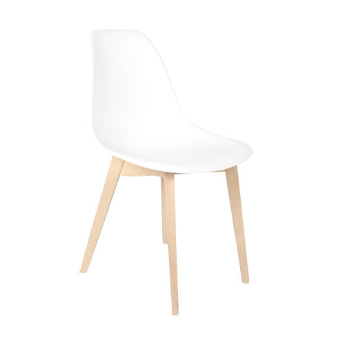 Smooth Side Natural de Abs Y Madera - Blanco