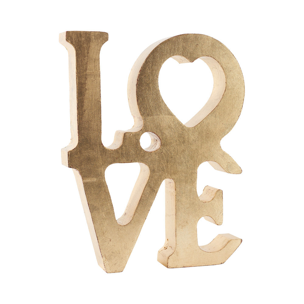 Little Love Accesorio Decorativo de Madera Maple - Dorado
