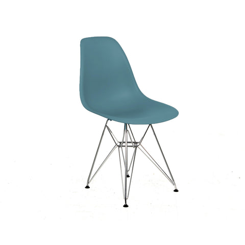 Metal Side Silla de Abs y Cromo - Varios Colores