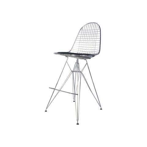 Metal Side Stool de Abs Y Acero Cromado - Diamond Cromo