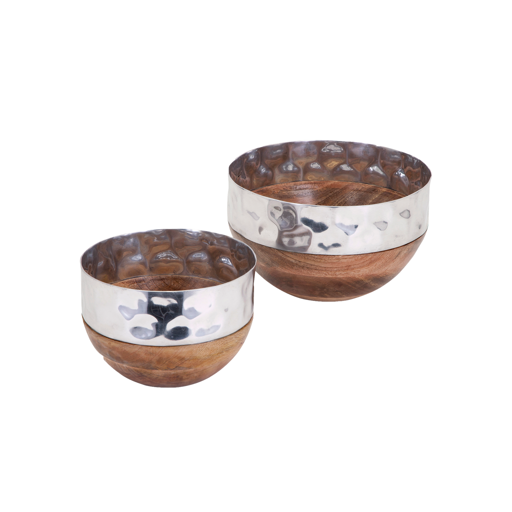 Roz Set de 2 Bowls de Madera - Natural