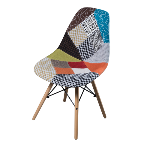Woody Side Silla tapizada de Abs y Madera - Multicolor