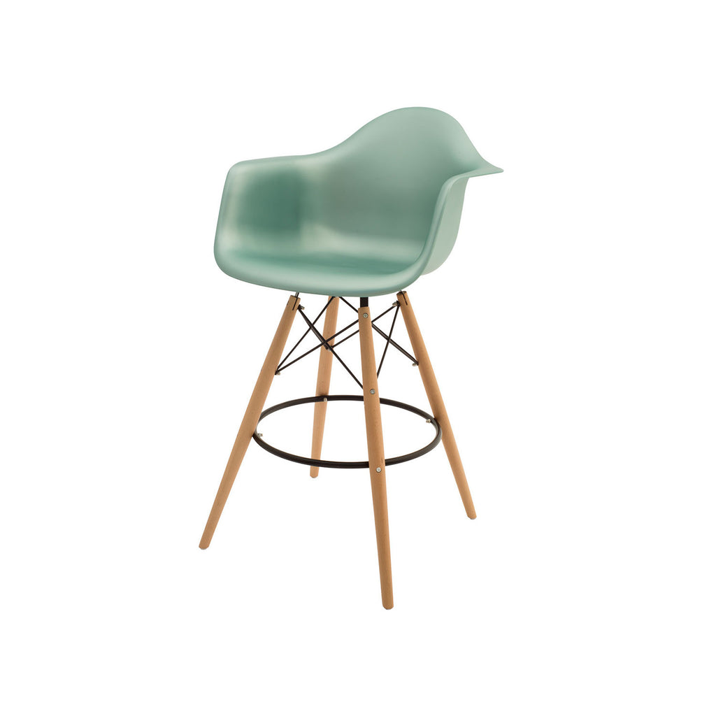 Woody Arm Stool Banco Alto de Polipropileno - Varios Colores