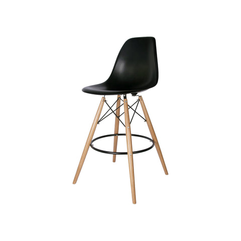 Woody Side Banco de Abs Y Madera - Negro