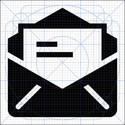 Email Icon in Grid