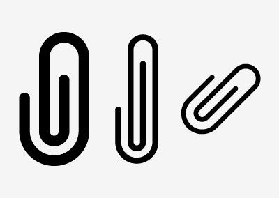 Paperclip icon examples