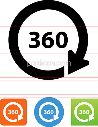 360 Degree Circle Icon