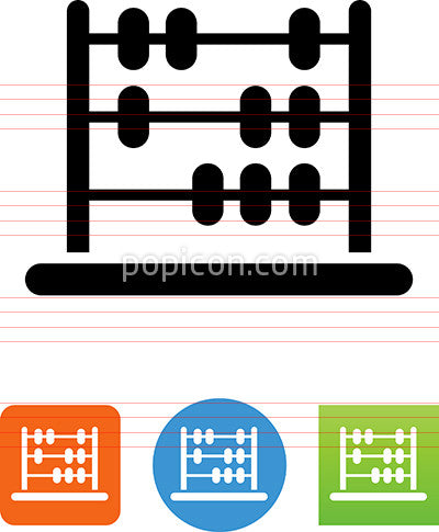 Abacus Counting Frame Icon