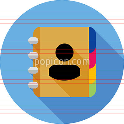 Address Book Icon On Background