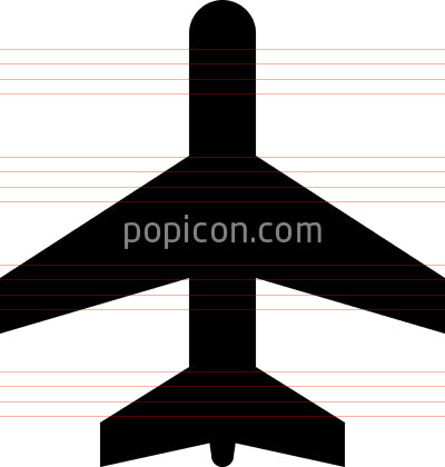 Airplane Airport Vector Icon