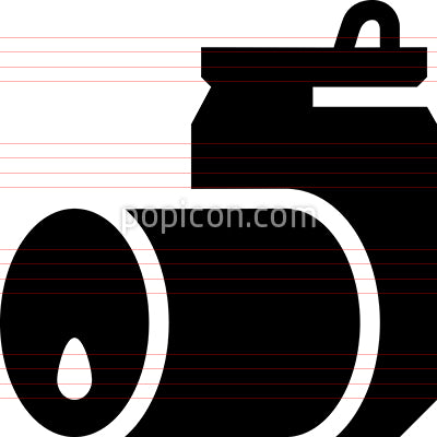 Aluminum Steel Cans Vector Icon