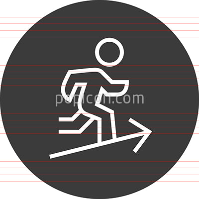 Ambition Determination Career Outline Icon