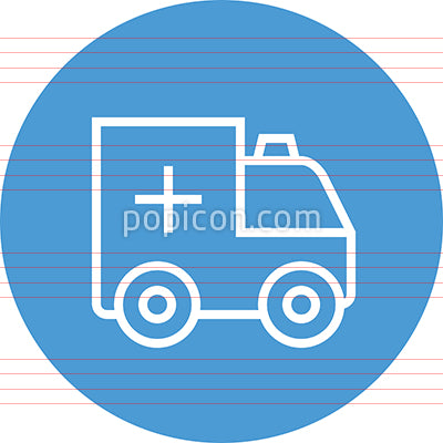 Ambulance Paramedic Responder Outline Icon