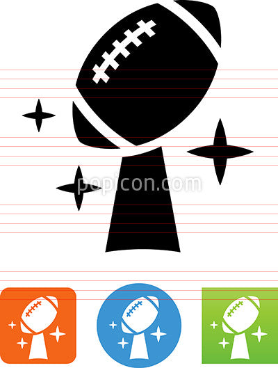 American Football Championship Trophy Icon