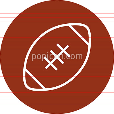 American Football Pigskin Outline Icon