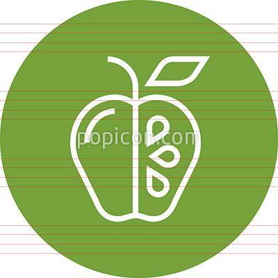 Apple Cutout With Seeds Outline Icon