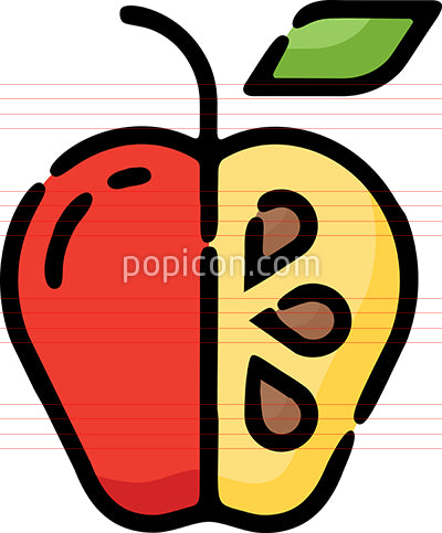Apple Seeds Hand Drawn Icon