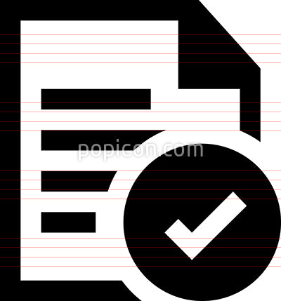 Approved Document Vector Icon