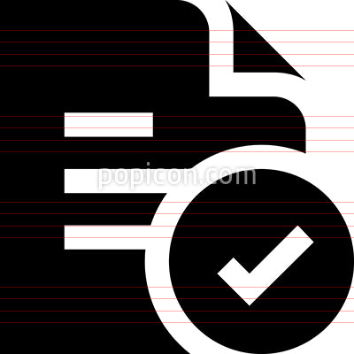 Approved File Vector Icon