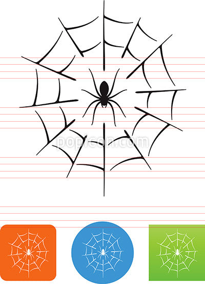 Arachnid Spider With Web Icon