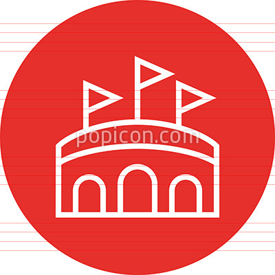 Arena Stadium Outdoor Venue Outline Icon