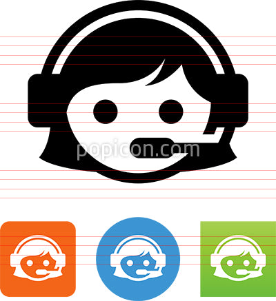 Assistance Call Center Service Rep Icon