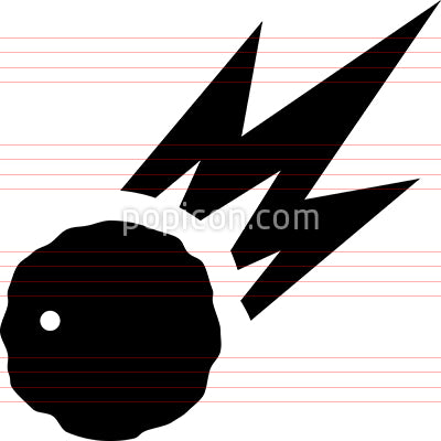 Asteroid Meteor Vector Icon