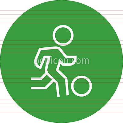 Athlete With Ball Outline Icon