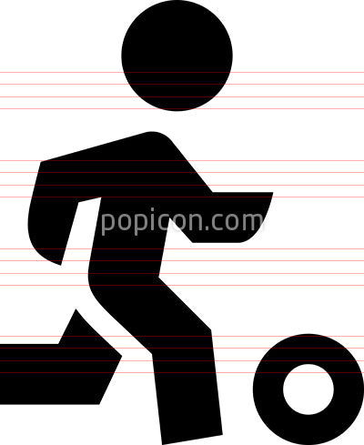 Athlete With Ball Vector Icon
