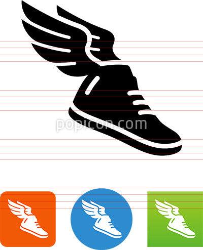 Athletic Shoe With Wings Icon